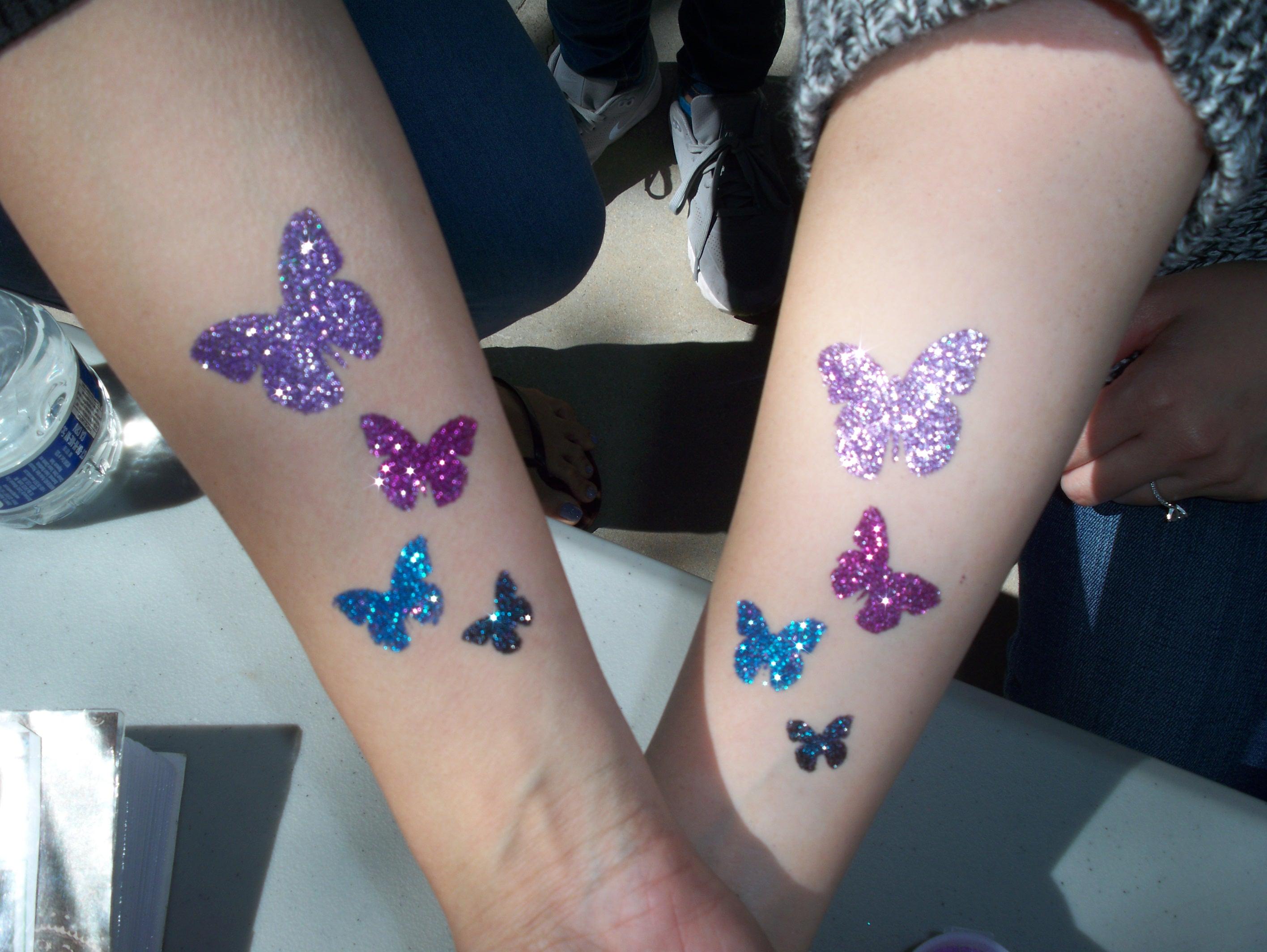 BFFs who love butterflies.