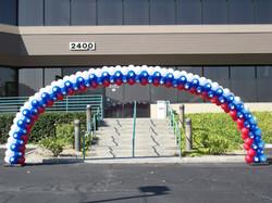 Patriotic Balloon Arch
