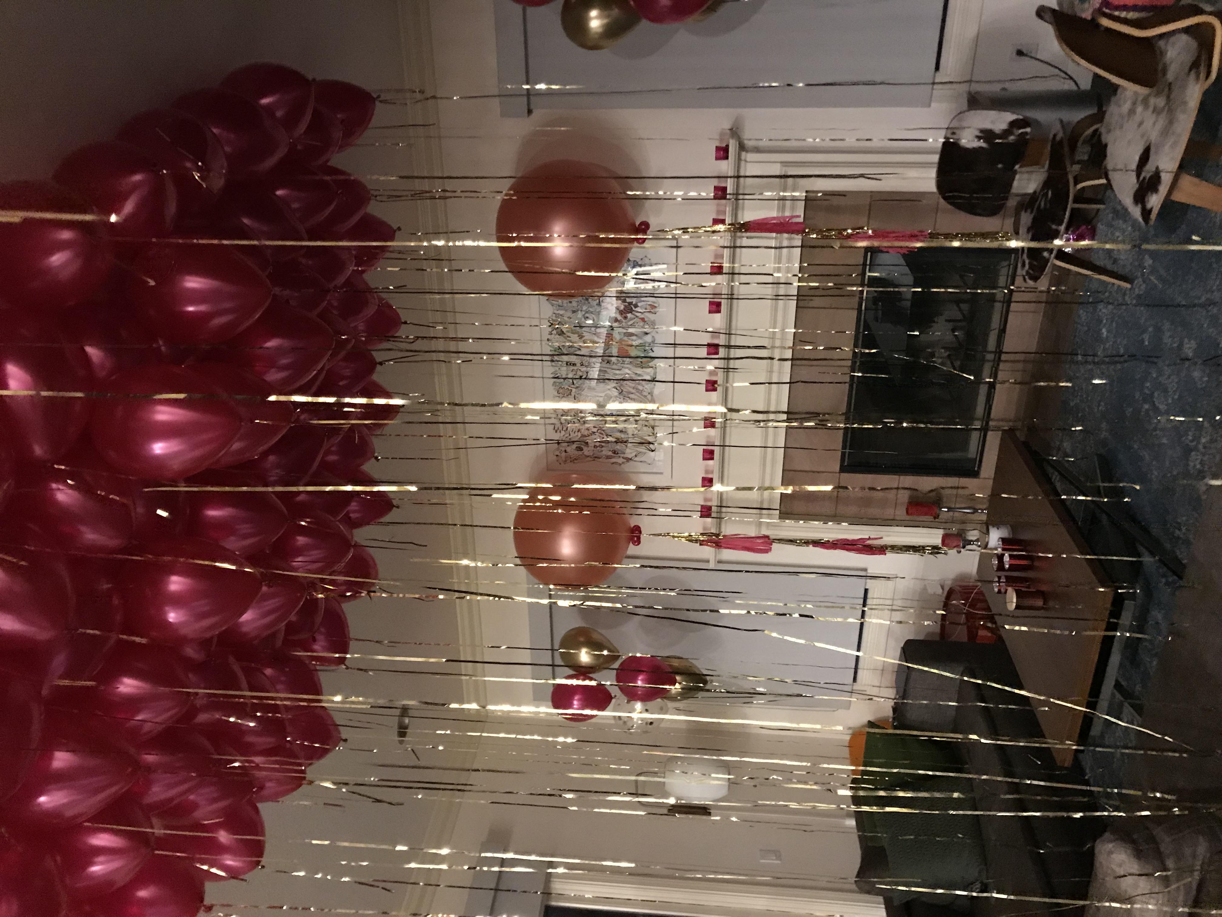Elegent Helium Balloons Ceiling