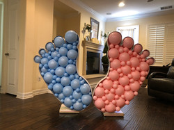 4' Baby Feet Balloon Mosaic