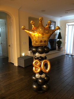 5' Column With Foil Number