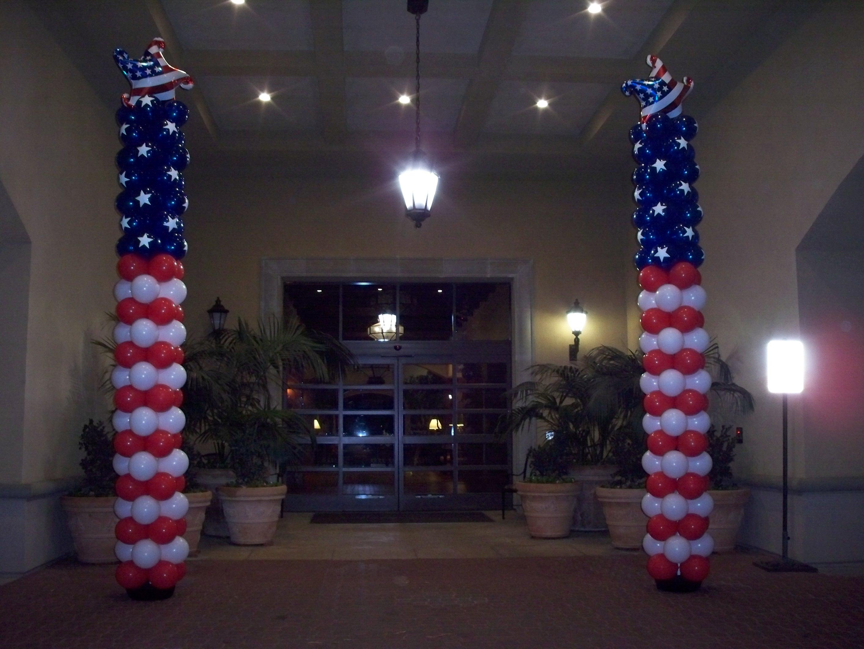15' Patriotic Balloon Columns