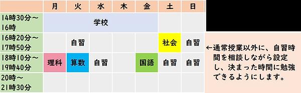 中学受験 通塾予定の例.png