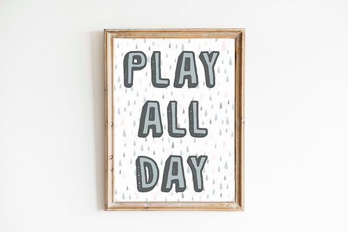 Blue tones Play all Day  Print