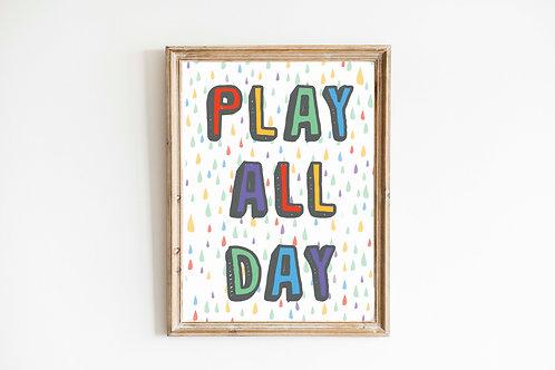 Play all Day Rainbow Print