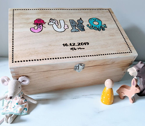 Animal Names keepsake box