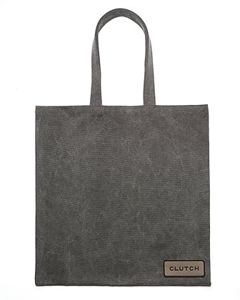 Gray Denim Maxi Tote