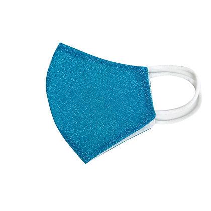 Mascherina Blu Glitter
