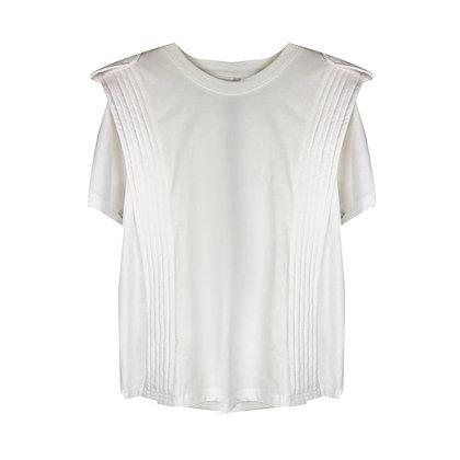 T-shirt Bianca con Spalline