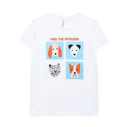 T-shirt Zoo Bianca