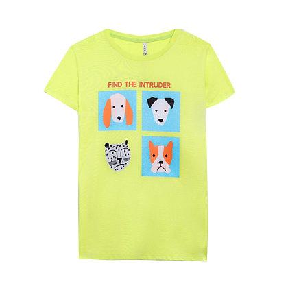 Copia di T-shirt Zoo gialla