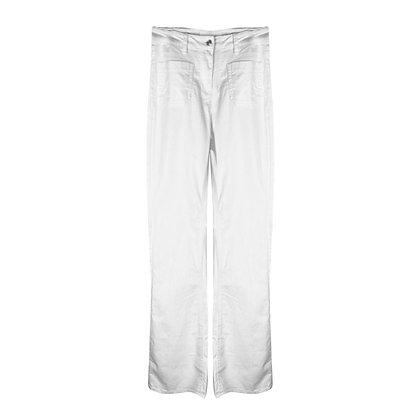 Pantalone a zampa Bianco