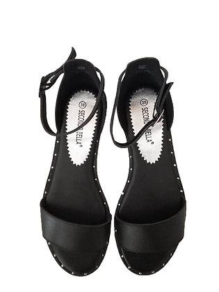 Sandalo Aperto Basso Nero
