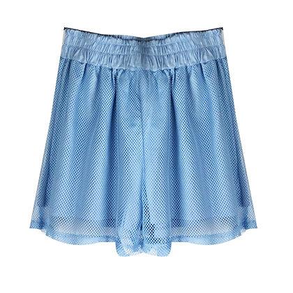 Shorts in Rete Azzurro