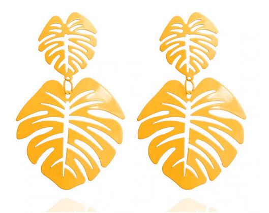 Orecchino Foglia Arancione