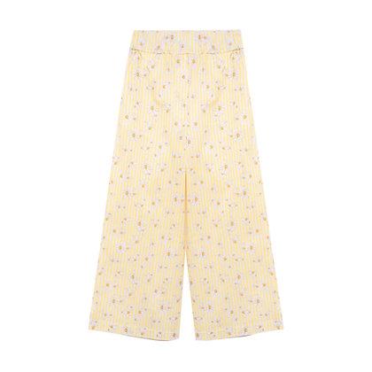 Pantalone con margherite