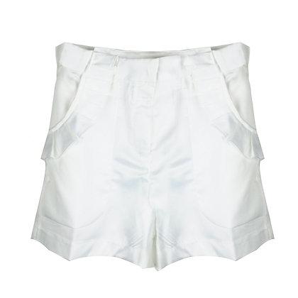 Shorts in Raso Bianco