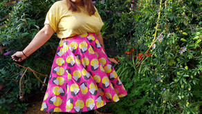 Laura's Colourful Coquelicot Skirt and Pattern Hack