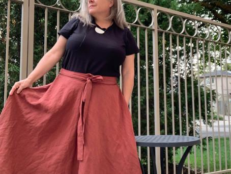 Janet's Beautiful Auburn Coquelicot Skirt