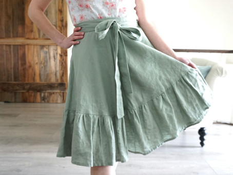 Ruffle Hem Hack for the Coquelicot Skirt!