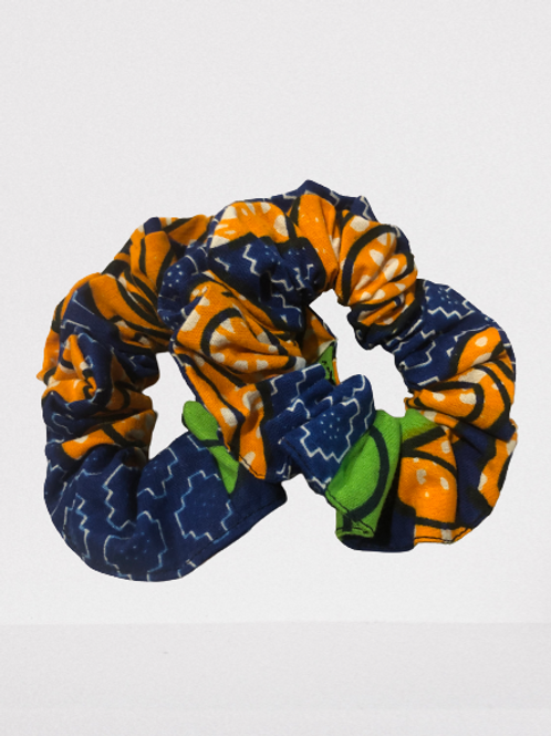 Blue/ Yellow Scrunchies