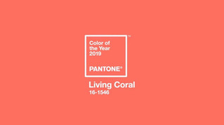 LIVING CORAL  -  A COR DO ANO DE 2019