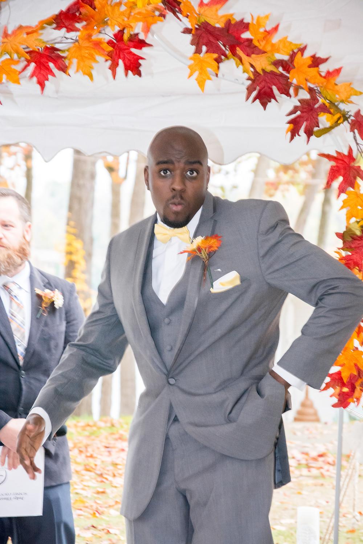 Joe dancing at the alter!                                       Akron Wedding Photography