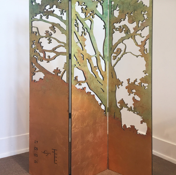 Arrival - triptych or freestanding screen