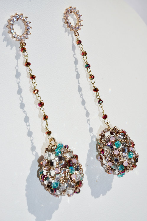 Theia Oval Ball Drop Earrings