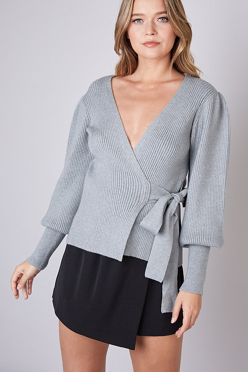 Wrap Sweater Grey