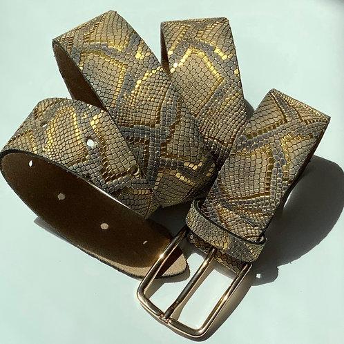 Dark gold snake belt