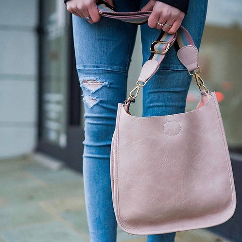 Blush Vegan Leather Messenger