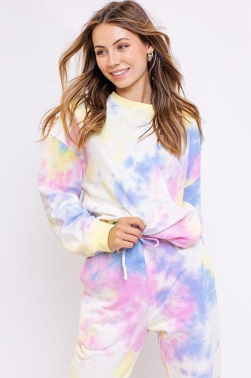 Pastel Multi Tie Dye Pullover