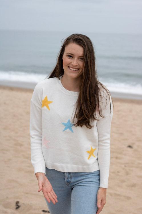 Star Sweater White