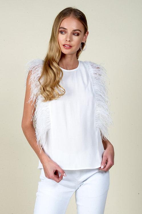 White Feather Blouse