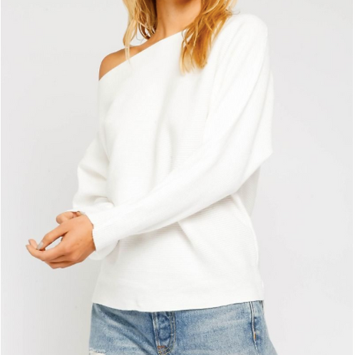 White Sweater off the shoulder