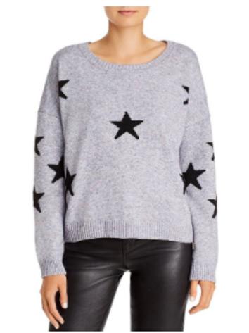 Heather Grey with Black Star Sweater