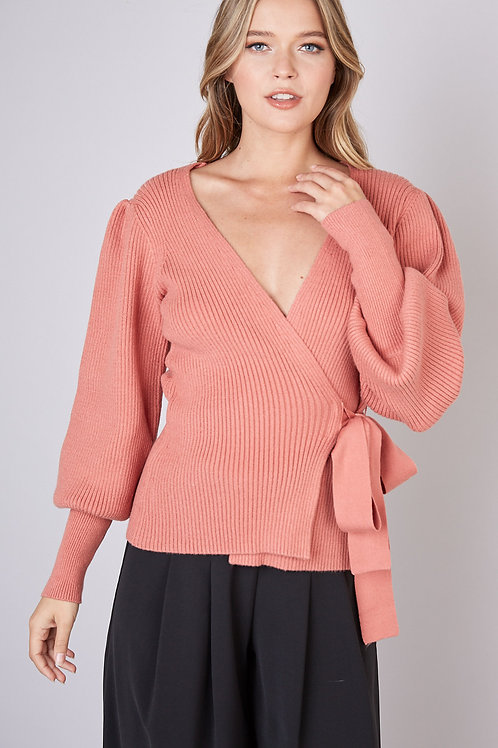 Wrap Sweater Peach