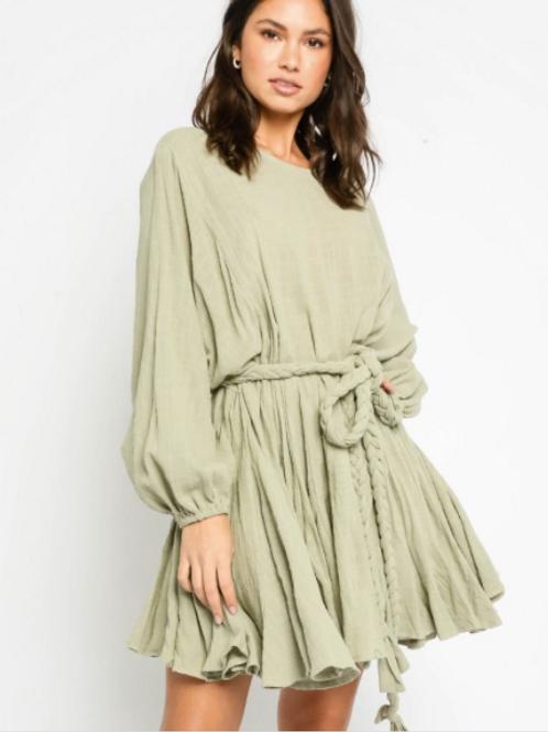 Sage Gauze Dress