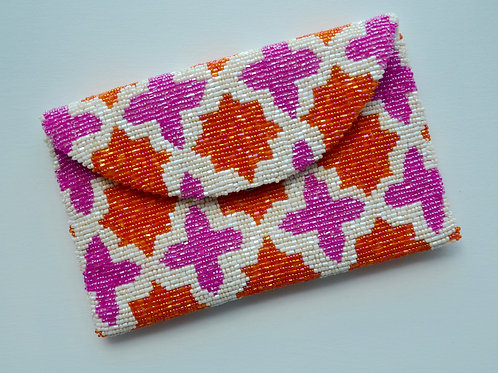 Pink & Orange Mini Clutch