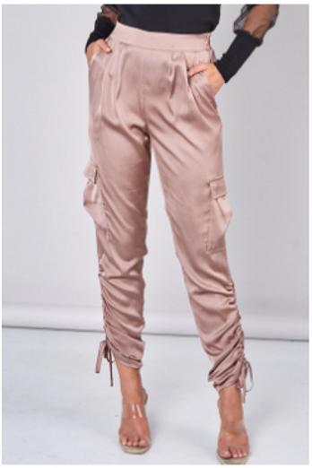 Ruched Detail Pants Mink