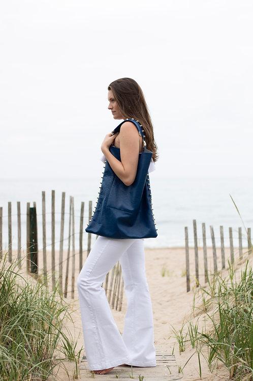 Cobalt Blue Hobo Bag