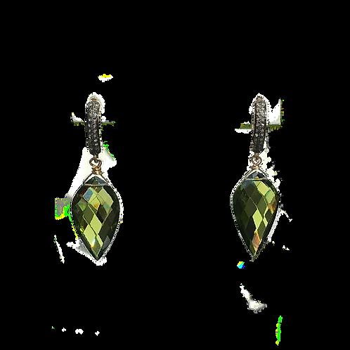 Peridot Petal Earrings