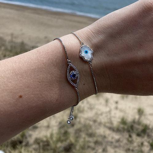 Silver Adjustable Bracelets