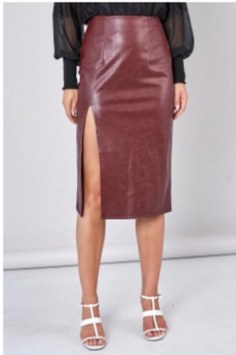 Slit Wine Skirt