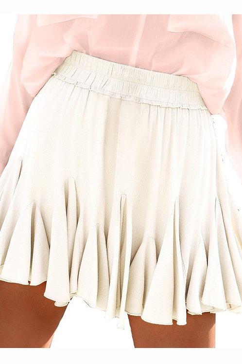 Beige Mini Skirt