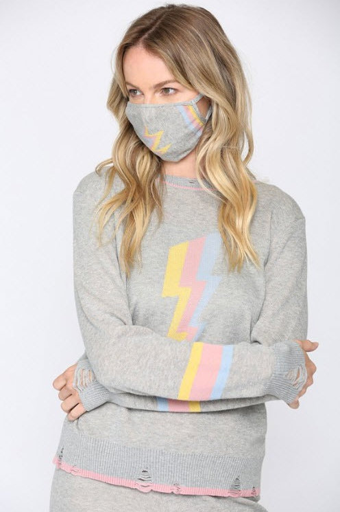 Pastel Lightning Bolt Sweater