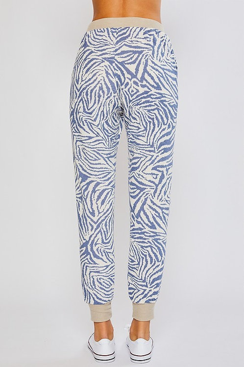 Blue Zebra Jogger Pants