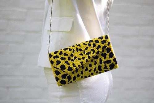 Neon Yellow Animal Print Bag