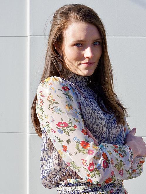 Floral Print Mix blouse